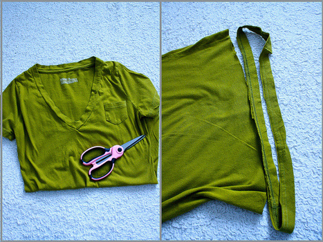 >Project ReStyle: Easy No-Sew T-Shirt Necklace | Market Day Ideas | Scoop.it