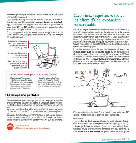 guide Ademe  : être ecocitoyen au bureau | pdf free ebook download | Trucs et bitonios hors sujet...ou presque | Scoop.it