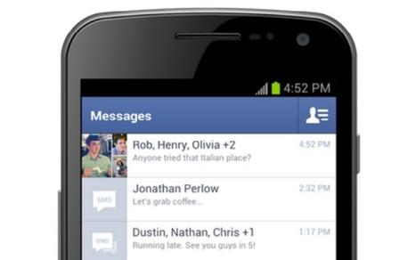 Facebook - Nouveau design pout la messagerie sur Android   Réseaux sociaux   PME   Scoop.it