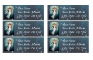 Personalized address labels Angel theme | Candy Buffet Weddings, Events, Food Station Buffets and Tea Parties | Scoop.it