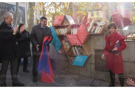 Une bibliothèque à ciel ouvert place Guichard | Gazette du numérique | Scoop.it