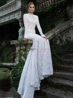 Cheap Trumpet/Mermaid Long Sleeves Scoop Wedding Dresses Sale at Amydress.co.uk | amydress | Scoop.it