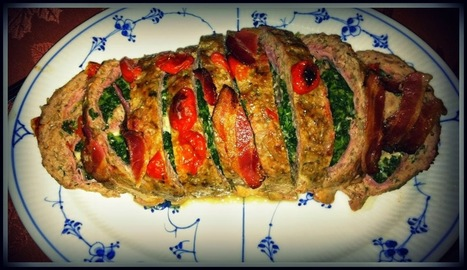 Dinner Recipes Idea: Stuffed Meatloaf Recipe with Spinach and Tomato | Tips & Ideas | Scoop.it