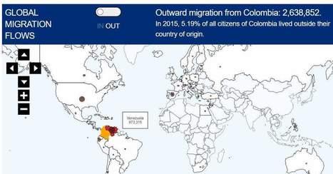Impresionante mapa interactivo con las emigraciones e inmigraciones | Ensenyament | Scoop.it