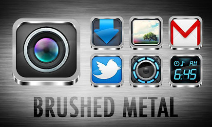 BRUSHED METAL APEX-GO THEME v1.6 | ApkLife-Android Apps Games Themes | Android Applications And Games | Scoop.it