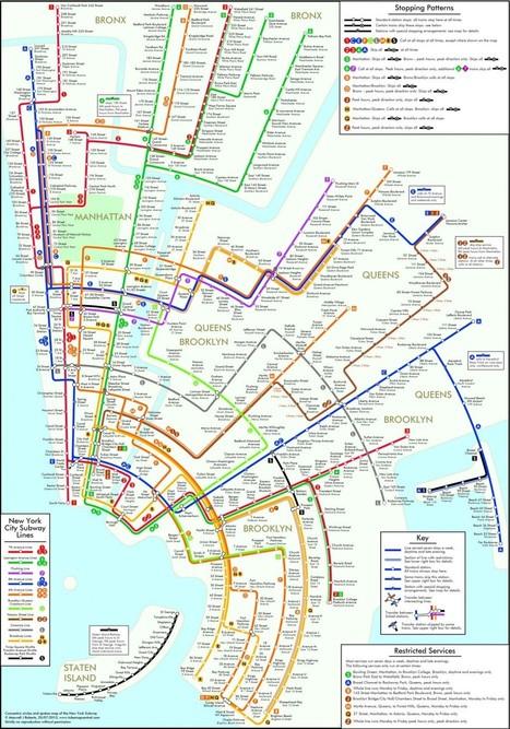 Des cartes du métro déformées pour une lecture facilitée   L'actualité du facteur humain   Scoop.it