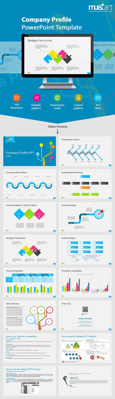 Company Profile Keynote Template | Apple Keynote Slides For Sale | Scoop.it