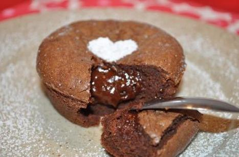 Coeur fondant au chocolat | Desserts | Scoop.it