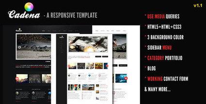 20 Responsive HTML Website Templates | Graphic & Web Design Inspiration + Resources | Template & Webdesign | Scoop.it