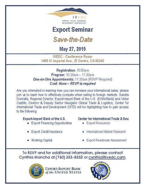 Imperial Valley Export Seminar | San Diego Center for International Trade Development | International Trade | Scoop.it