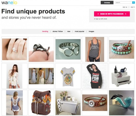 Bookmark, Organize And Share Your Favorite Products With Wanelo | Social Media Content Curation | Scoop.it