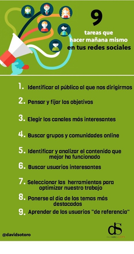 #SocialMediaMarketing : 9 tareas prácticas que aplicar mañana mismo en tus redes sociales | Estrategias de Social Media Marketing: | Scoop.it