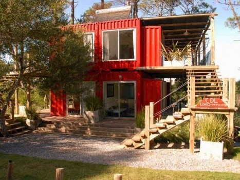 Shipping Container Eco Loft Rises Meters Away From Unspoiled Uruguayan Beaches | Inhabitat - Green Design Will Save the World | Container houses | Scoop.it