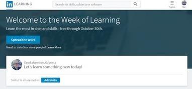 Linkedin Learning ofrece sus más de 9000 cursos de forma gratuita hasta el 30 de octubre | Educacion, ecologia y TIC | Scoop.it