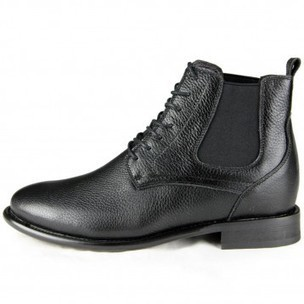 Elevator taller boots men increased height 8cm / 3.15inches ankle boots with rubber sole online for sale - topoutshoes.com   men fashion shoes   Scoop.it