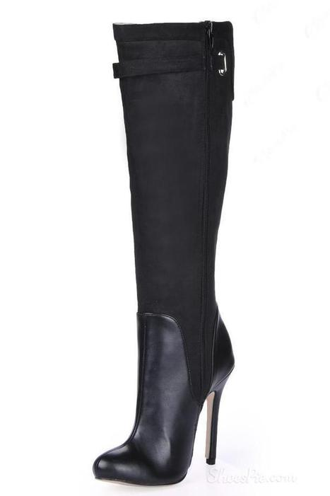 Charming Black Stiletto Heels Knee High  Boots | shoespie | Scoop.it