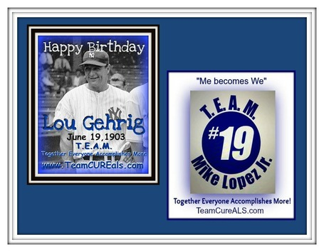 Happy Birthday Lou Gehrig | Remembering #19, Forever in Our Hearts | #ALSAWARENESS #PARKINSONS | Scoop.it