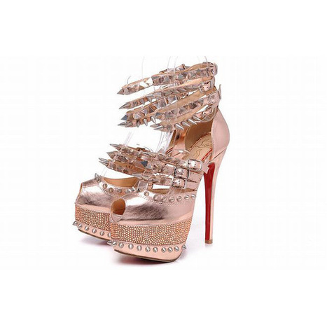 leather peep toe pumps bronze louboutin 20 years isolde 160mm | popular collection | Scoop.it