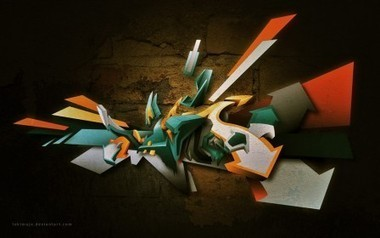 3D Vectorial Graffiti by LokiMuje | Pesek_Graffiti | Adobe Adobe Illustrator | Scoop.it