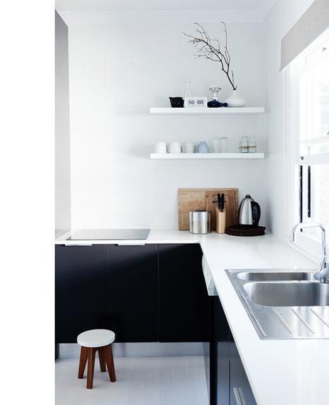 Une jolie visite déco en noir et blanc très scandi chic ! | Immobilier | Scoop.it
