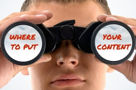 Where to Put Your Content to Ensure People Will See It | MarketingHits | Scoop.it