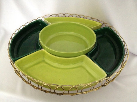 Mid Century Relish Tray // Lazy Susan | Antiques & Vintage Collectibles | Scoop.it