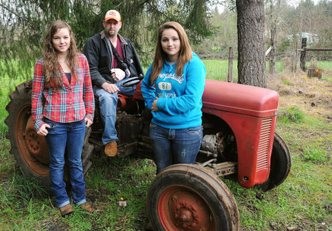 Teen daughters find strength to lift 3,000-pound tractor off father | Troy West's Radio Show Prep | Scoop.it