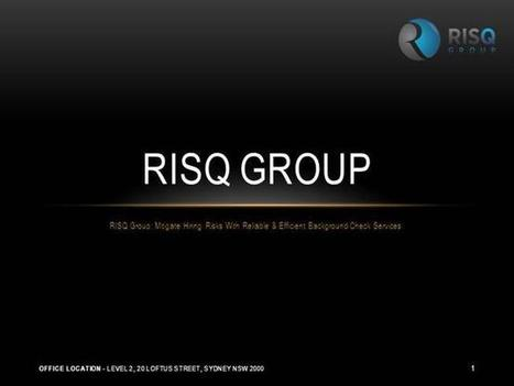 RISQ Group: Mitigate Hiring Risks with Reliable & Efficient Background Check services   Employment Screening Background Check   Scoop.it