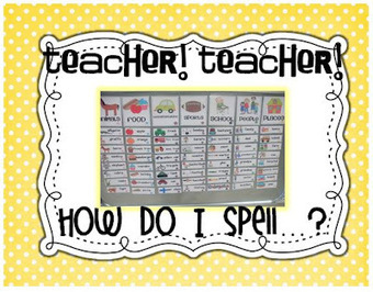 Little Minds at Work: Teacher! Teacher! How do I spell...? | Primary Education Resources and Ideas | Scoop.it