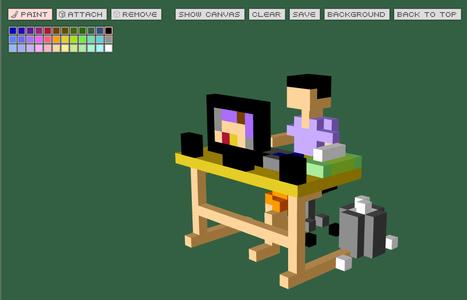 Q-BLOCK : Create 3D Pixel Art Online | CRÉER - DESSINER EN LIGNE | Scoop.it