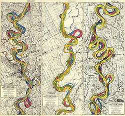 Early stream channels of the Mississippi,... | cartography & mapping | Scoop.it