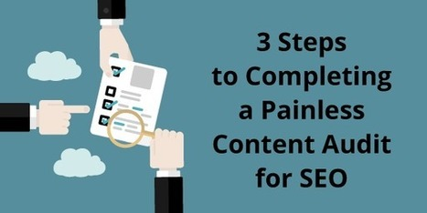 3 Steps to Completing a Painless Content Audit for SEO | Content Creation, Curation, Management | Scoop.it