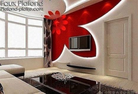Design faux plafond séjour | Faux plafond en forme d'un papillon | Scoop.it