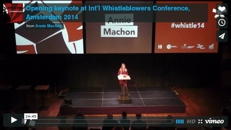 Keynote at international #whistleblower conference, #Amsterdam - Using Our Intelligence | News in english | Scoop.it