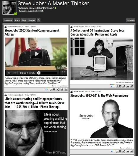 Steve Jobs: A Master Thinker | Scoop.it | Collaborative Content-Curation: new Forms of Reading & Writing #curation #journalism #education #e-learning | Scoop.it