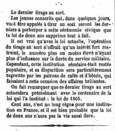 1905 - Le dernier tirage au sort ardéchois : Qui sera « le bidet » ? Qui sera « le laurier » ? | Nos Racines | Scoop.it