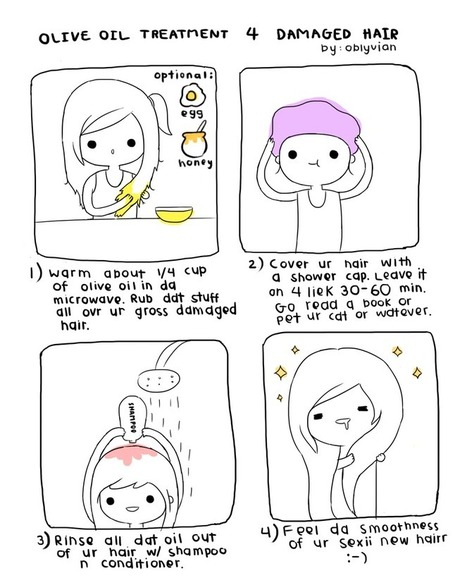 pyon pyon~ - Home remedies are the best type of remedies lol  ;... | Olive Oil & Beauty & Health | Scoop.it