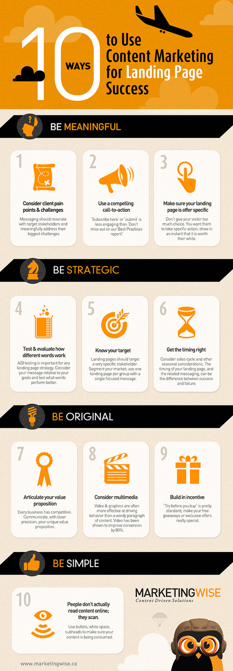 10 formas de usar marketing de contenidos en una Landing Page #infografia #infographic | Seo, Social Media Marketing | Scoop.it