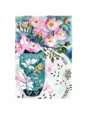 Artwork: Dog roses - Open House Art | Art - Crafts - Design | Scoop.it