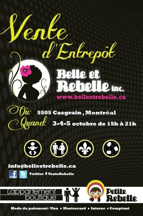 Grande vente d'entrepôt chez Belle et Rebelle | Mode Montréal | All Dressed | Scoop.it