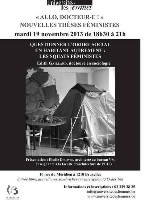 Conférence sur les squats féministes   éco-féminisme sociale   Scoop.it