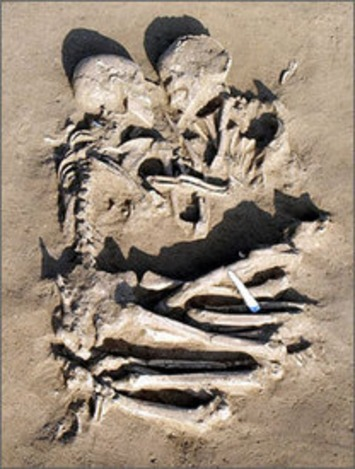 Archaeologists find prehistoric Romeo and Juliet locked in eternal embrace - USATODAY.com | Sex History | Scoop.it