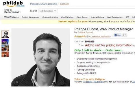 Emploi: Il vend son CV comme un produit Amazon et fait sensation | Construire et gérer son e-reputation | Scoop.it