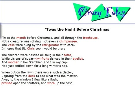 Crazy Tales: 'Twas the Night Before Christmas | Friday Fun for Elementary Education Students | Scoop.it