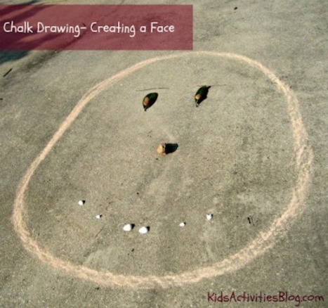Chalk Drawings - Creating a Face | Learn through Play - pre-K | Scoop.it