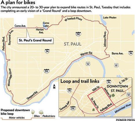St. Paul to unveil bike plan adding 214 bikeway miles - TwinCities.com | Biking and Trail Running | Scoop.it
