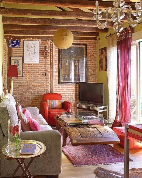 Bohemian and feminine attic | Designing Interiors | Scoop.it