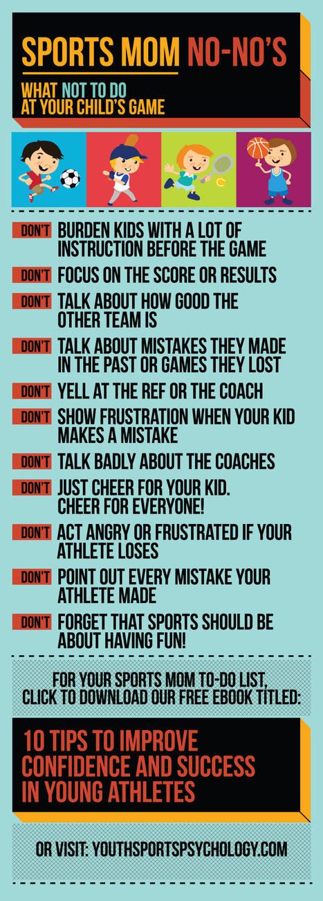 Sports Mom No-No's! Pregame Tips for Sports Parents   Coach advice   Scoop.it