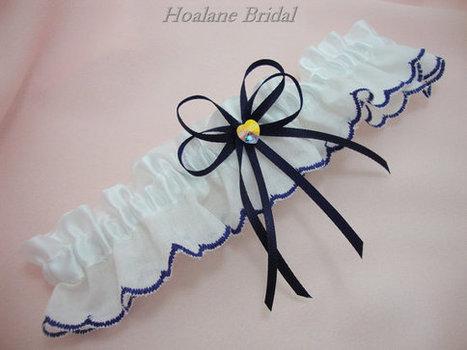 Garter, Scallop trim garter, Wedding/Prom garter | Wedding Garters | Scoop.it