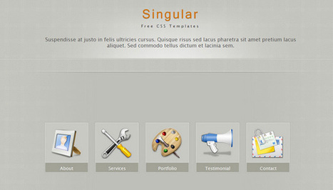 25 Simple And Elegant Free CSS Templates | Template & Webdesign | Scoop.it